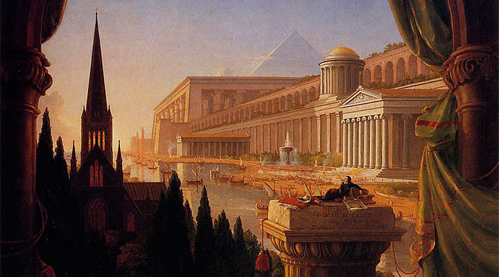 """The Architect's Dream"" de Thomas Cole"